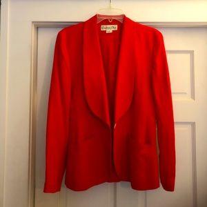 Vintage DIOR Red Waist Cut Blazer